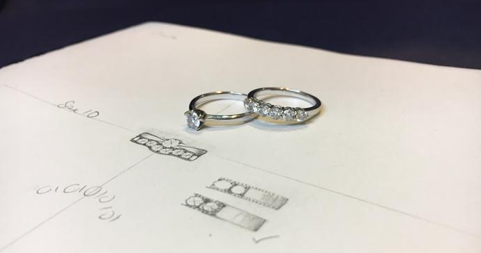 Redesigning diamond wedding ring