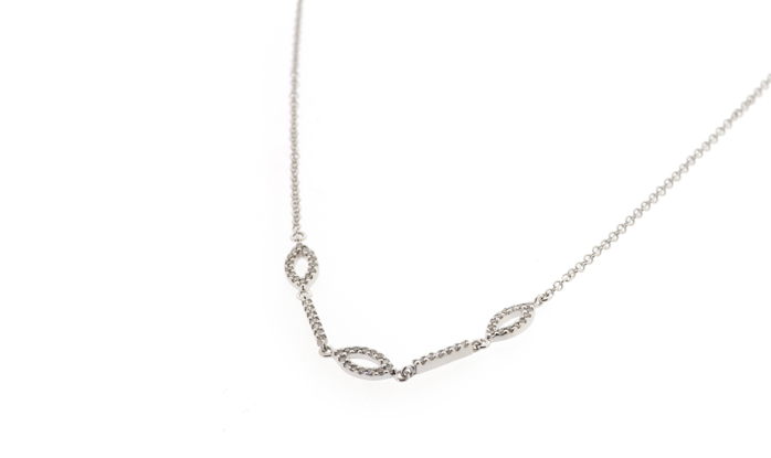 White Gold chain with diamonds