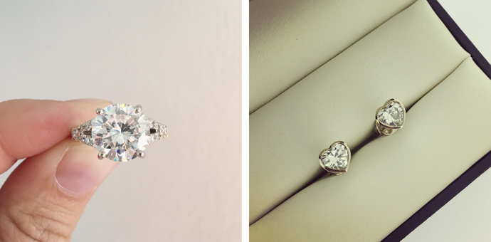 Restored diamond jewellery