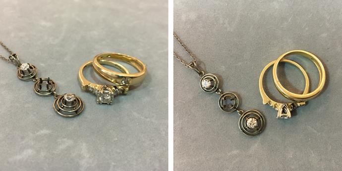 Using inherited diamonds in wedding ring