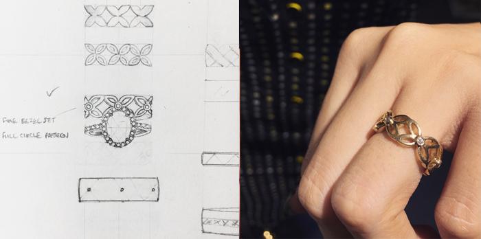Wedding ring looks like lace