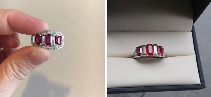 Ruby pendant made into a ring