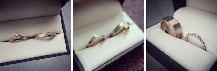 Matching rather than identical wedding rings