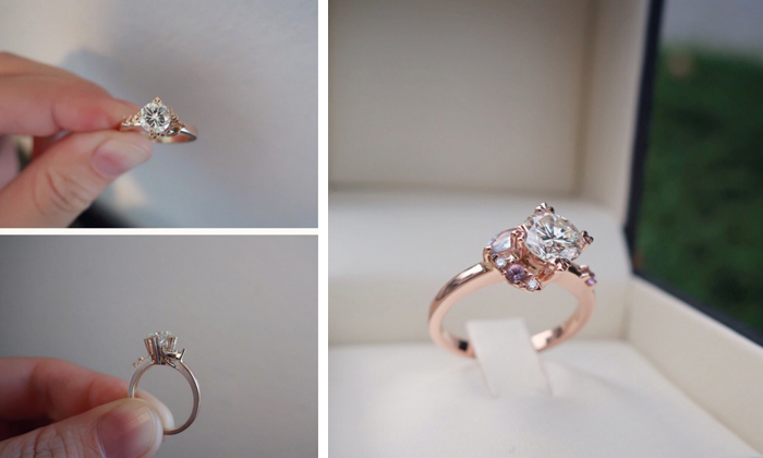 Engagement ring fitting and finished item