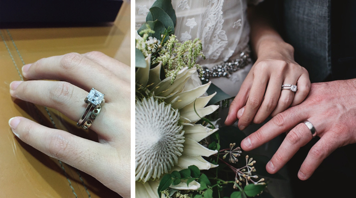 Trying and Wearing custom designed wedding ring